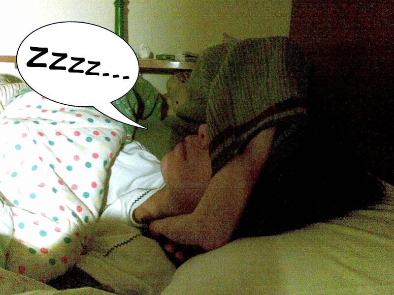 Sabrina se la dorme alla grande